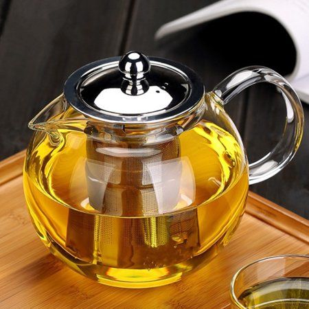 Moaere Glass Teapot Set Loose Leaf Tea Pot Good Kettles Clear Cup with Strainer Infuser and Lid, 1300ml #teapotset