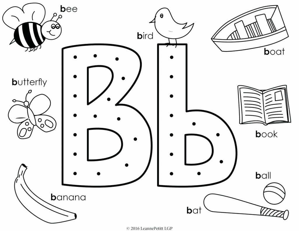 Letter B Coloring Sheets