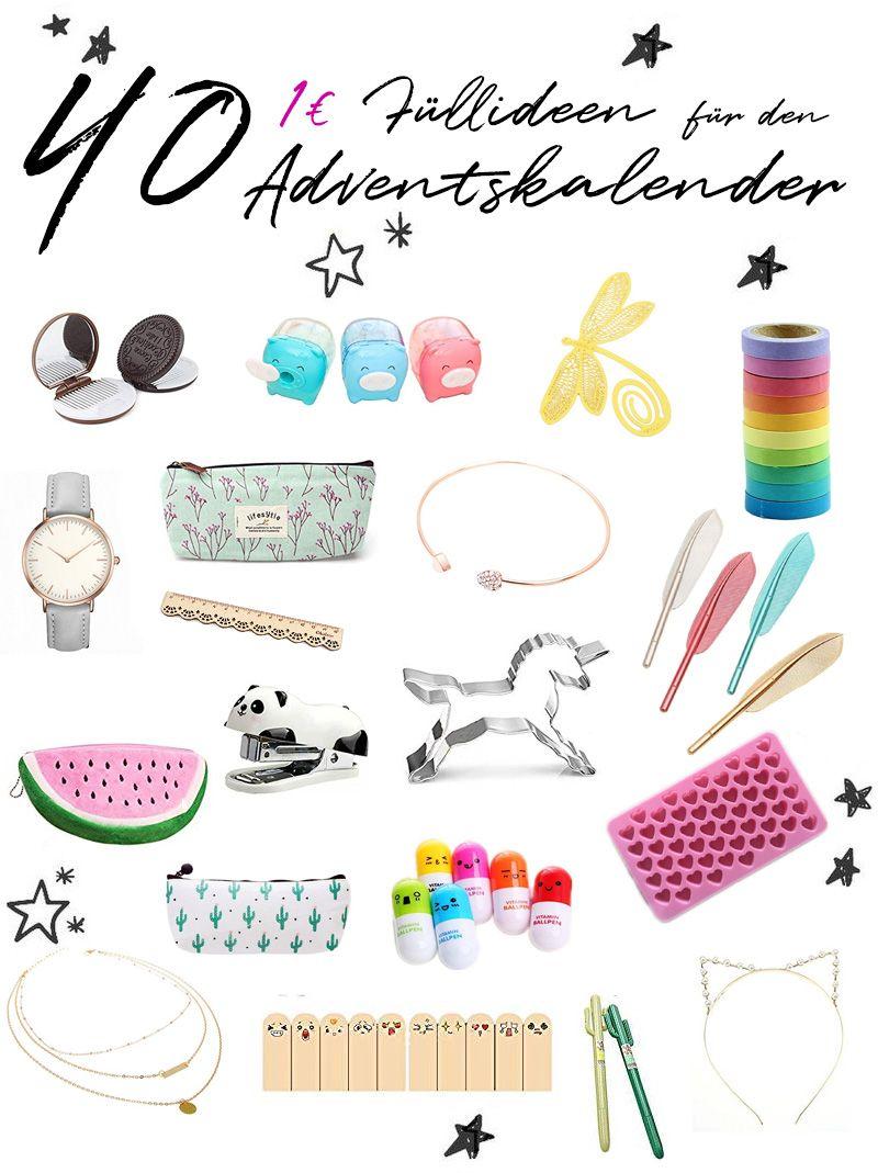 40 Ideen für die AdventskalenderFüllung für 1
