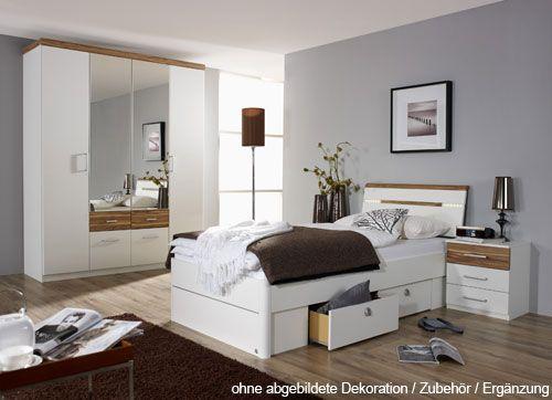 KomplettSchlazi Bett 100, 1 Nachtschrank 4tür. Schrank 800