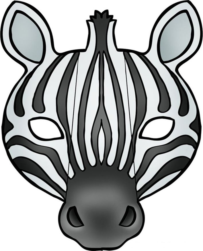 zebra face mask with folding parts | PARTIES | Printable