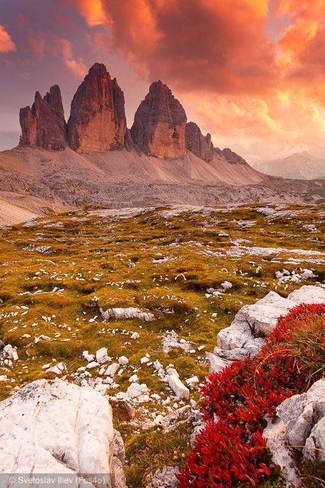 Tre Cime di Lavaredo, Dolomites Trentino Trentino-Alto Adige ...