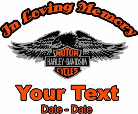 In Loving Memory Harley Decal Memories Online Signs Custom Decals