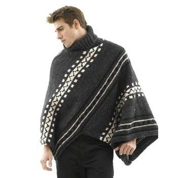 Alaska Poncho and Hat: Man\'s Version in Lion Brand Wool-Ease Thick ...