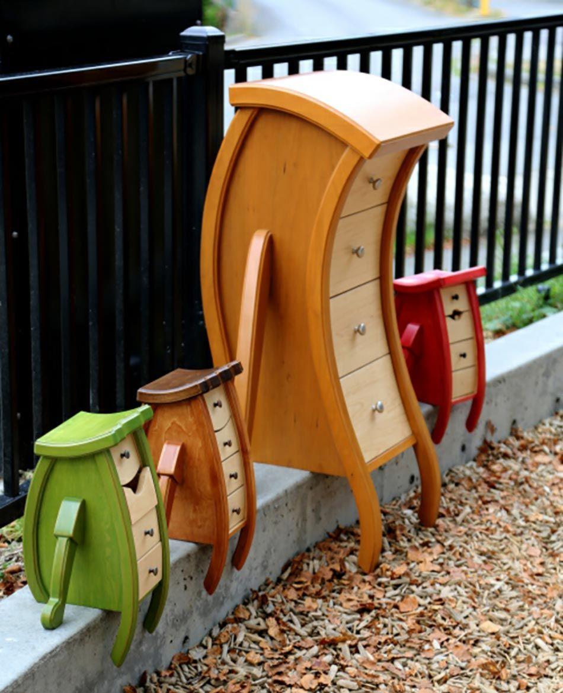 Kinderzimmer mit einzigartigen Möbeln belebt Möbel holz