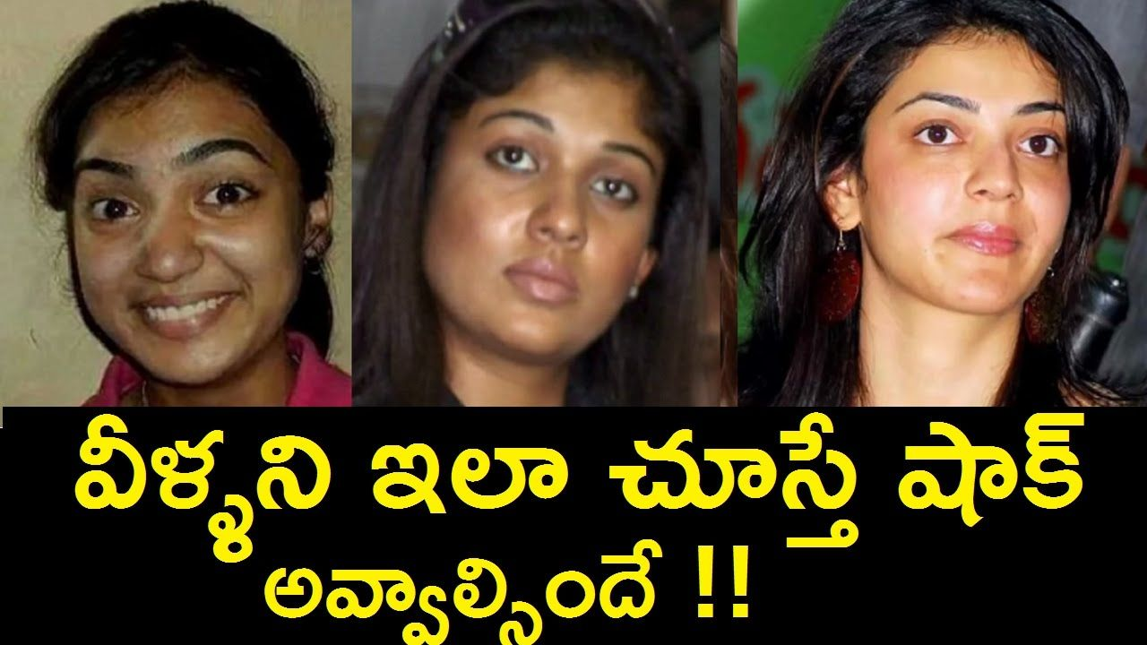 shocked!! tollywood heroines without makeup | telugu celebrity