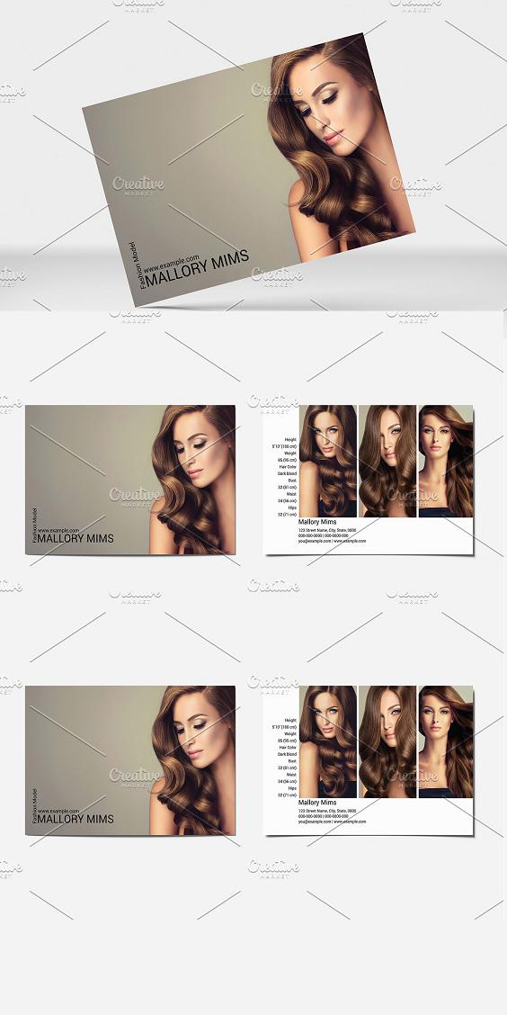 Modeling Comp Card Template V20 Model Comp Card Card Template Graphic Design Brochure