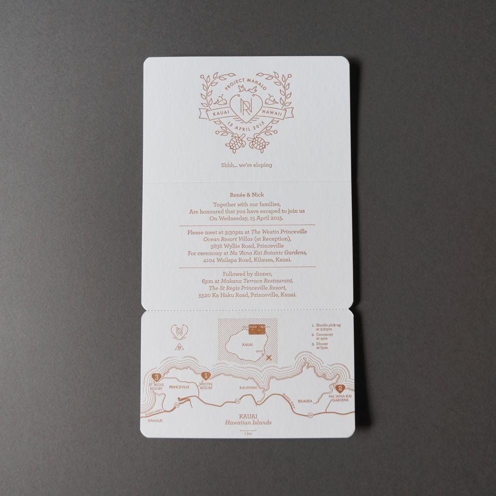 Renée u nick crafted by dud letterpress wedding invitations