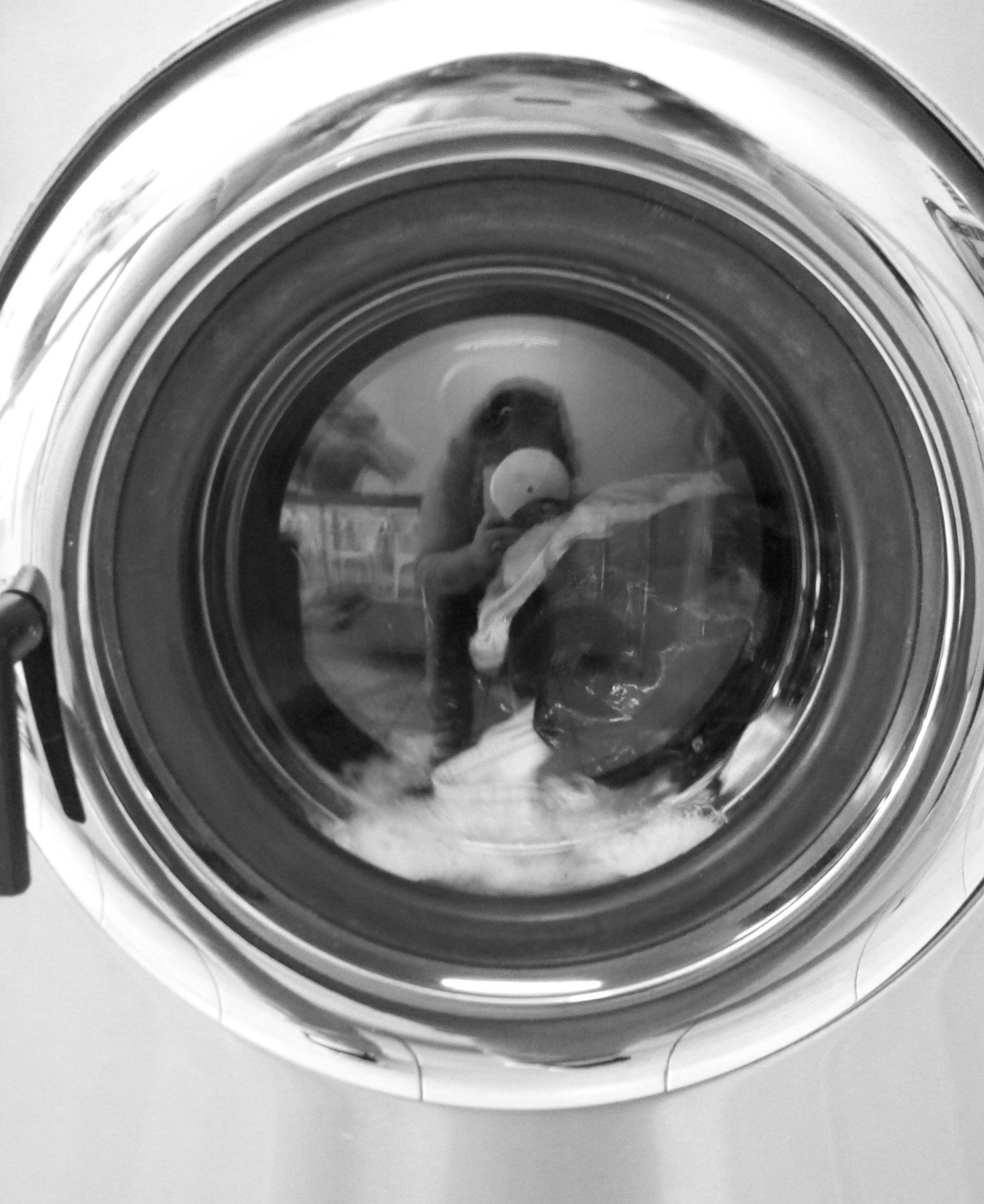 Dexter magic laundry art shots in black and white