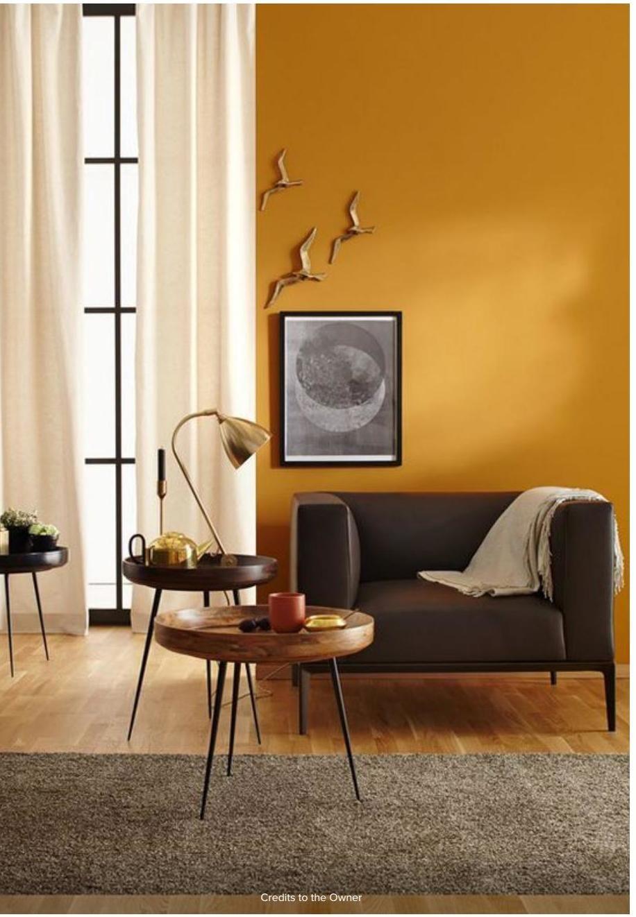 Color Trends 2020 HONEY YELLOW Living room orange