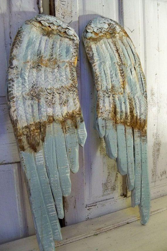 Large wood metal wings carved wall sculpture by AnitaSperoDesign, $180.00