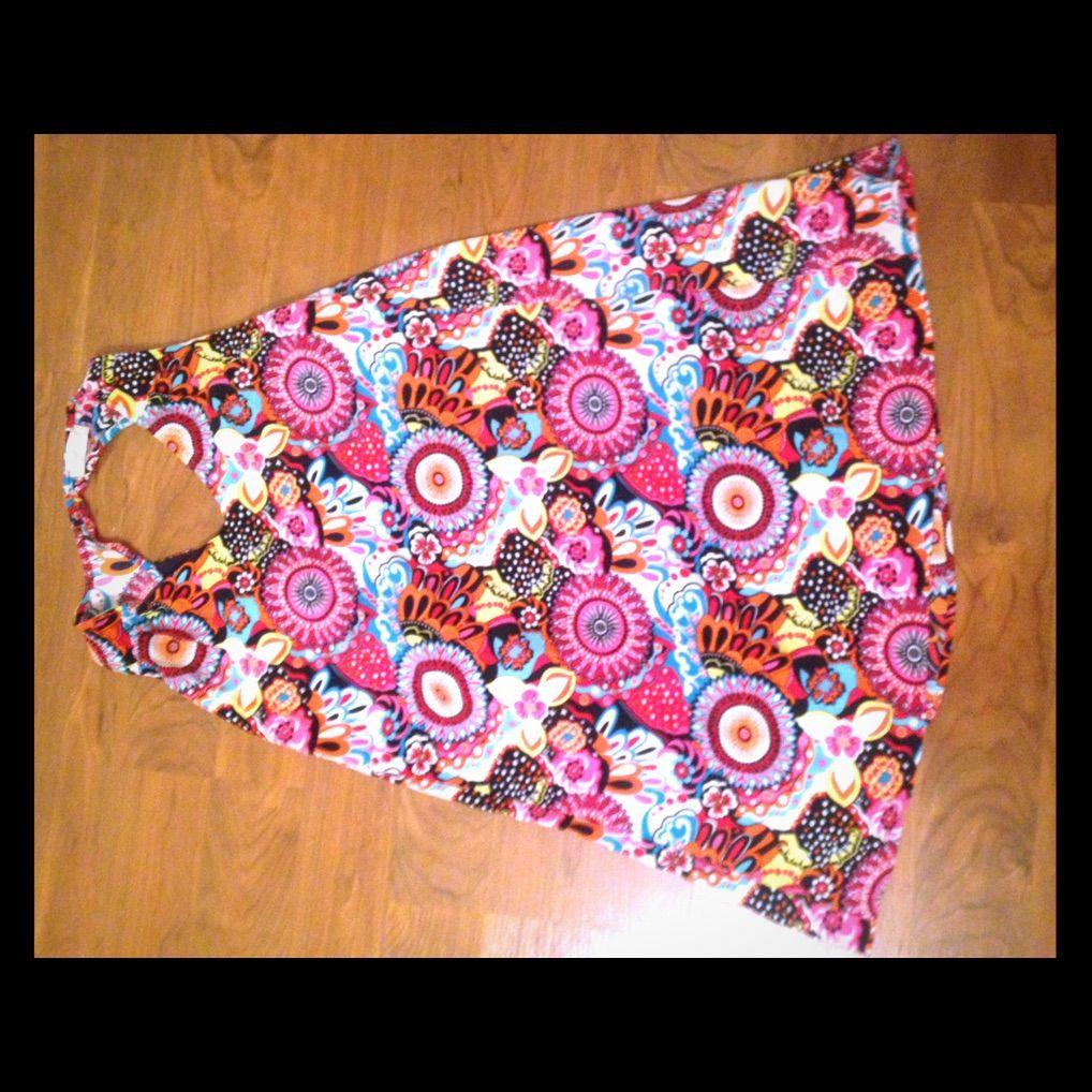 Altar'D State A Line Multi Print Dress Size L