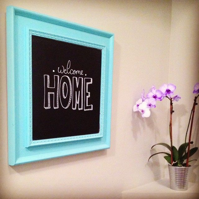 DIY (mirror to welcome sign)