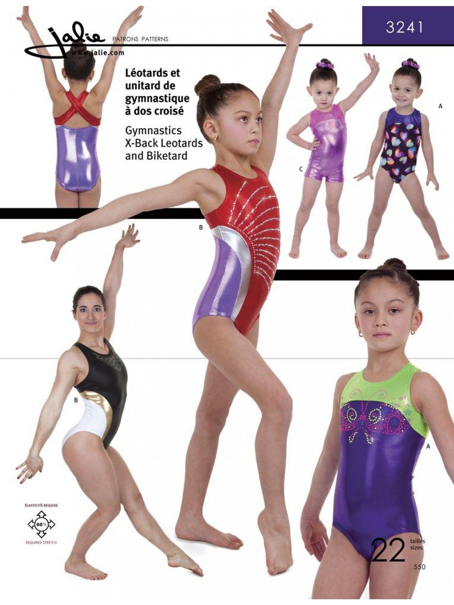 X-Back Gymnastics Leotards and Biketard
