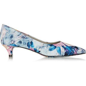 Shopping Our Store Msgm Blue Floral print Satin twill Pumps