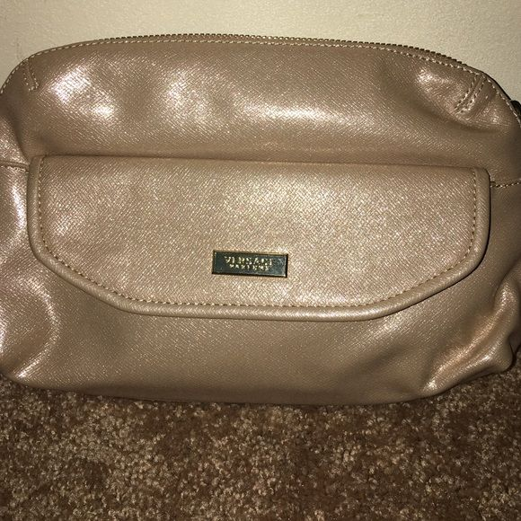 Just in Versace perfume bag. Versace bag use as makeup bag or a clutch. Gold  clutch looks more cute in person Versace Bags Cosmetic Bags   Cases 09a5df33bfe62