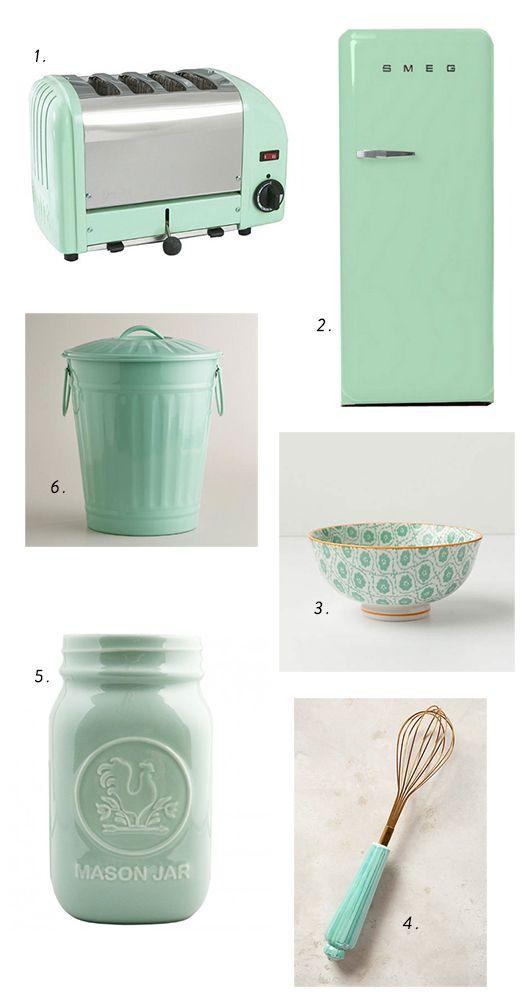 Mint Green Kitchen Accessories Sfgirlbybay Mint Milk Glass
