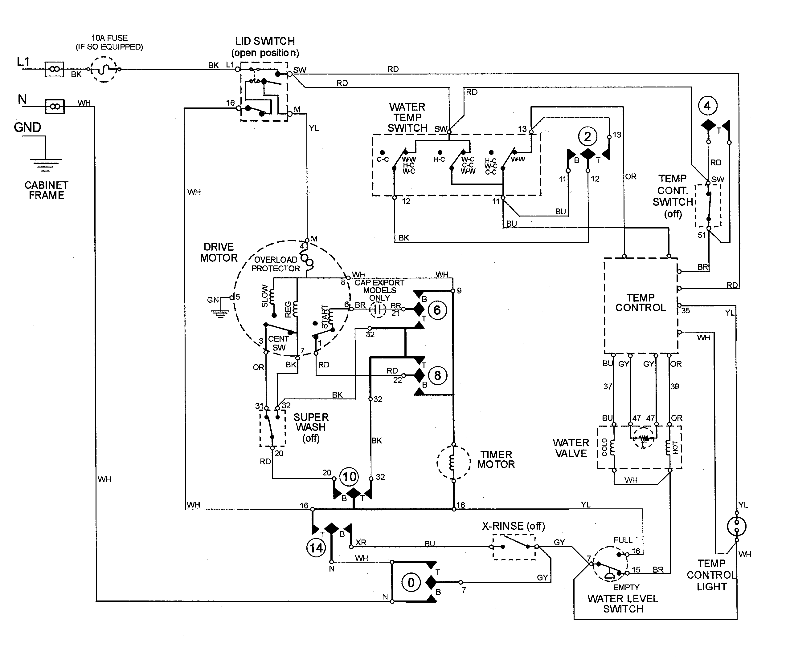 wiring diagram of washing machine motor wiring diagram General Electric Dryer Motor