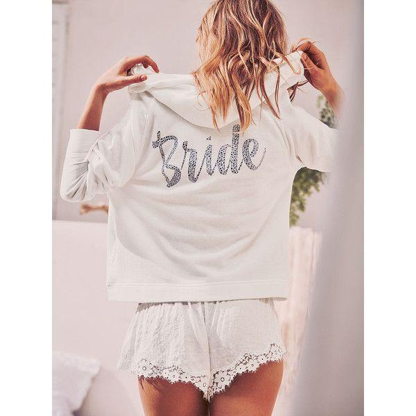 Victoria\'s Secret Bridal Hoodie ($48) ❤ liked on Polyvore ...