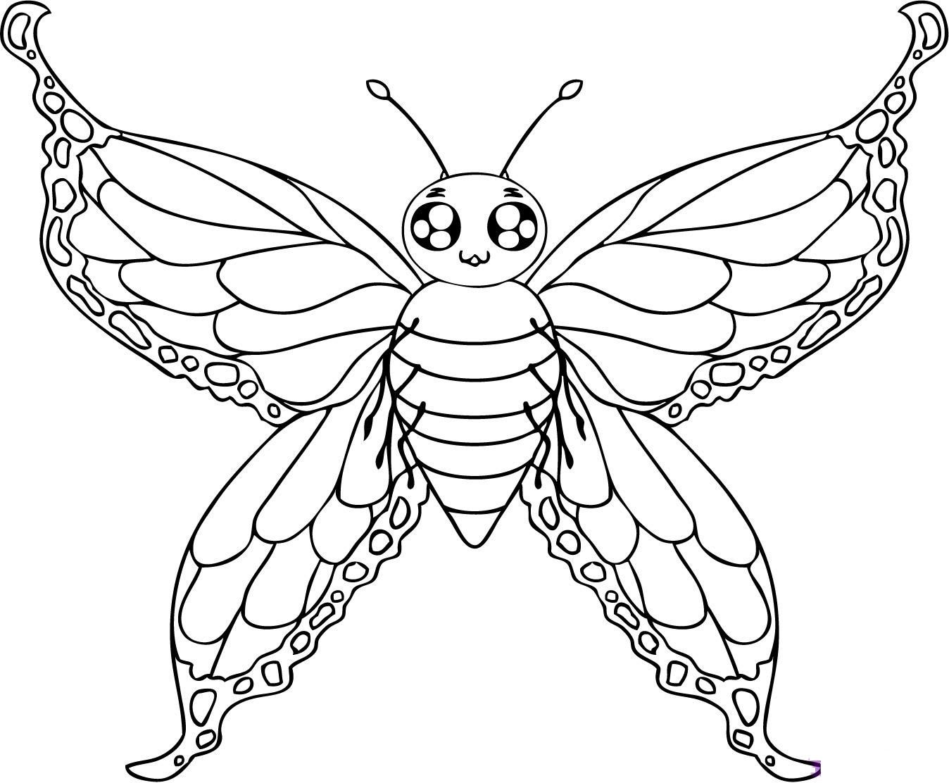 Atractivo Libre Mariposa Para Colorear Páginas Imprimibles ...