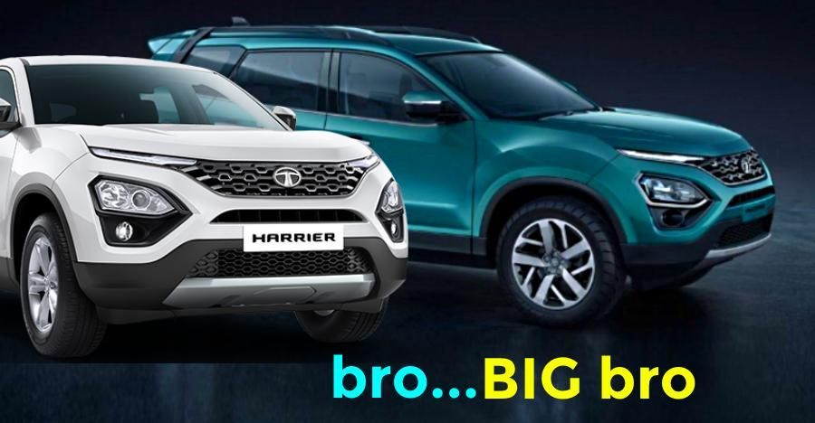 Tata Harrier with dual tone paint scheme caught on video