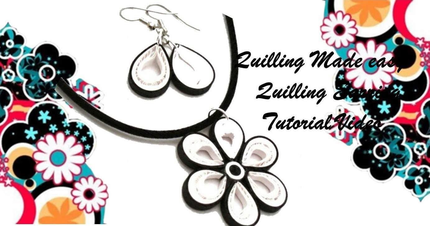 Art & Craft How to make Beautiful Quilling Earring Black/white New desig...