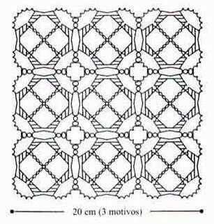 tejidos artesanales en crochet: tres en raya