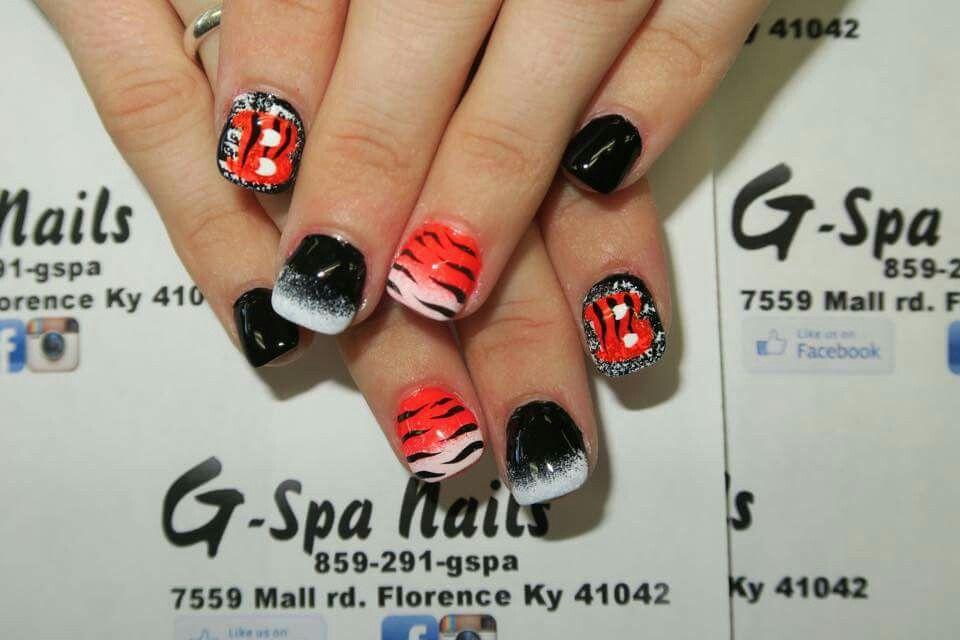 Who Dey Bengals nails   Nails   Pinterest