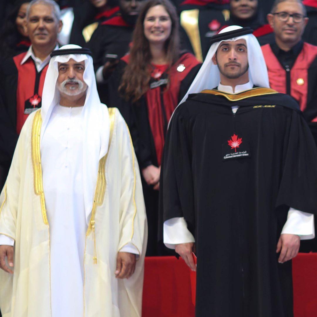 Nahyan bin Mubarak Al Nahyan y Maktoum bin Hamdan bin Rashid Al Maktoum, graduación de Maktoum, 26/04/2017. Foto: bin3teej