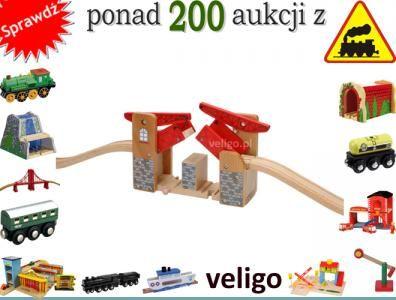 90825 MOST ZWODZONY DWUSTRONNY Kolejka drewniana