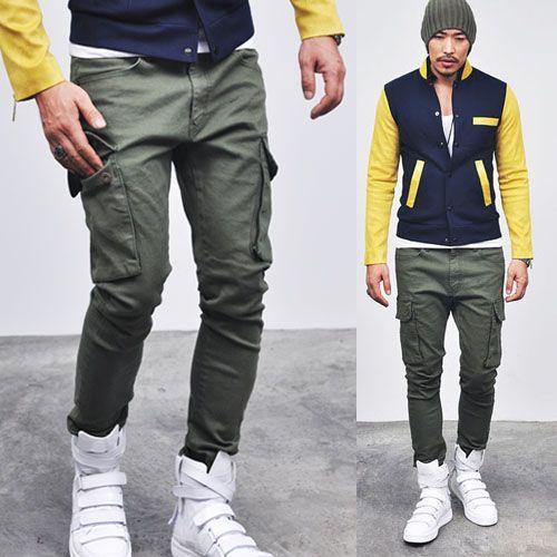 Must Spandex Skinny Baggy Cargo-Pants 41