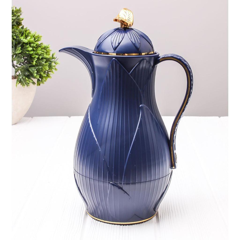 ترمس شاي أو قهوة رويال ليف أزرق غامق سعة 0 7 ليتر Vase Home Decor Men