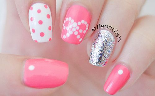 Easy Bow #Nails… Using Dots! - elle & ish -