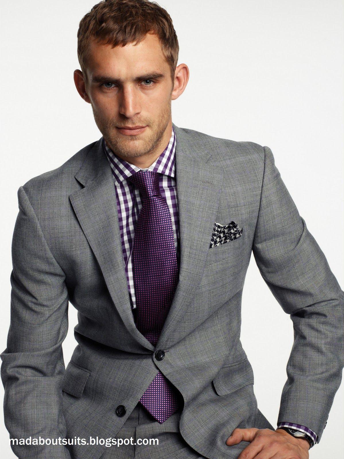 Grey tux, purple tie | Danielle's Wedding | Pinterest ...