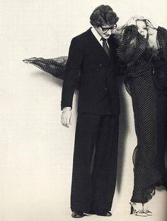 Yves Saint Laurent and Catherine Deneuve