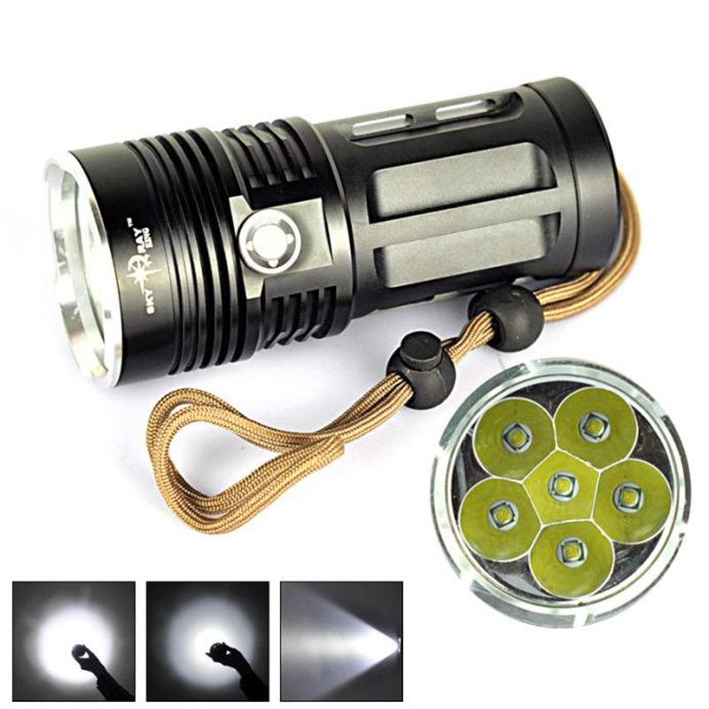 Ultra-bright 20000LM  T6 LED Zoomable Flashlight Torch Lamp Light 5-Mode FE
