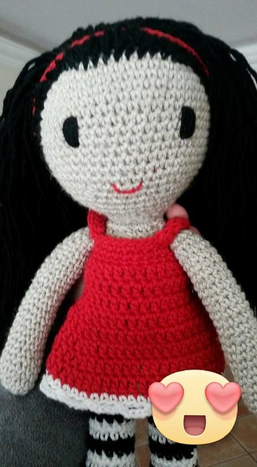 Crochet Gorjuss doll Boneca Gorjuss em crochet