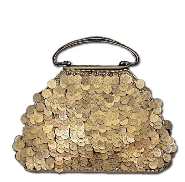 Väska, Mässing mynt - Lilla Orangeriet