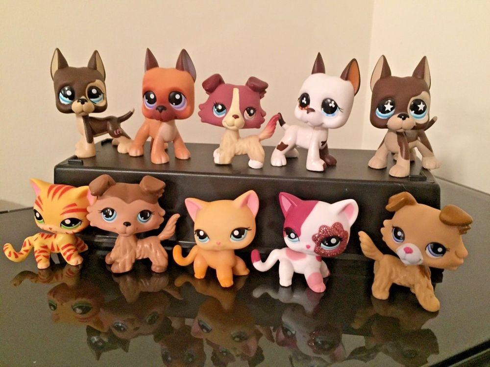 Littlest Pet Shop Lps Great Dane Dog 577 Lps Collie Cat 339 3