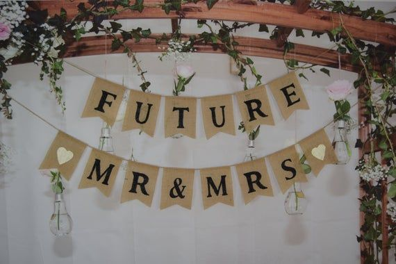 Rustic Bridal Shower, Engagement Party Decor, Couples Shower Decorations, Future Mr Mrs ,Rehearsal Dinner, Bridal Shower BannerRustic Bridal