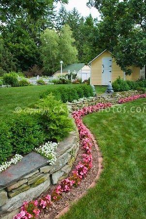 Backyard Flowers Fence Line Or Along Back Deck