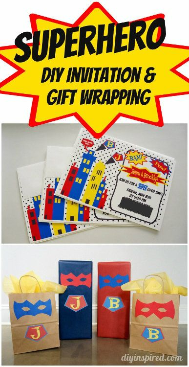 Superhero Invitations Ideas And Clever Gift Wrapping