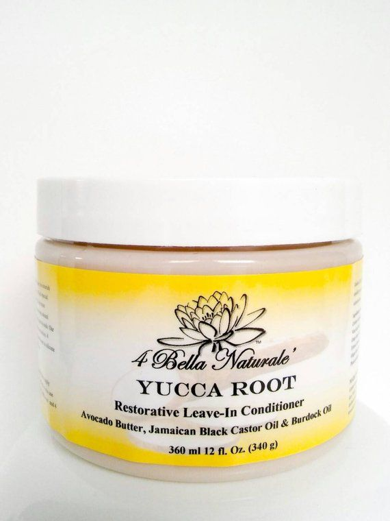 Leave In Conditioner Yucca Root Restorative 12oz Hair Growth Organic