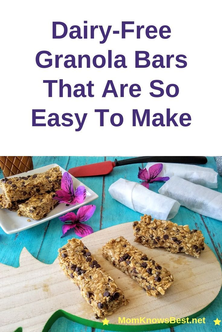 dairy free granola bars Once you discover how easy it is to make granola bars, you will never buy store bought ones again.