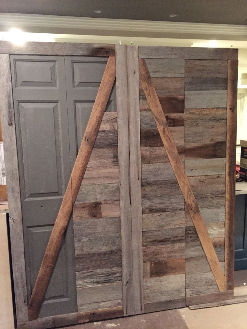Create A Beautiful Reclaimed Wood Barn Door From An Ugly Bifold Door