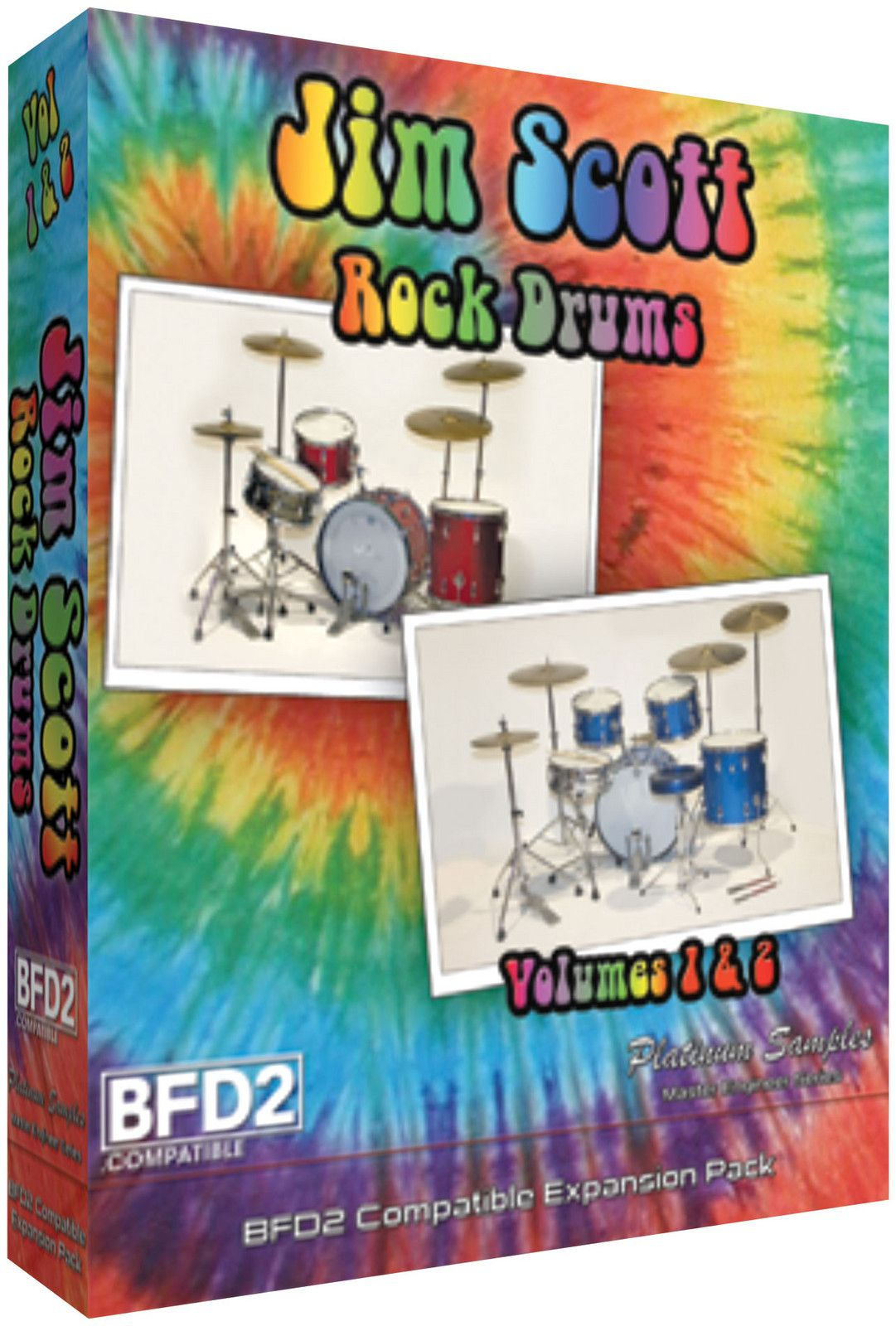 Platinum Samples Jim Scott Drums Volume 1 and 2 Drums