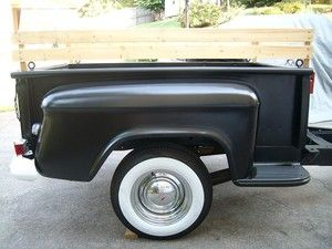 Utility trailer fabricated from a 1964 1966 chevrolet for Ebay motors car trailers