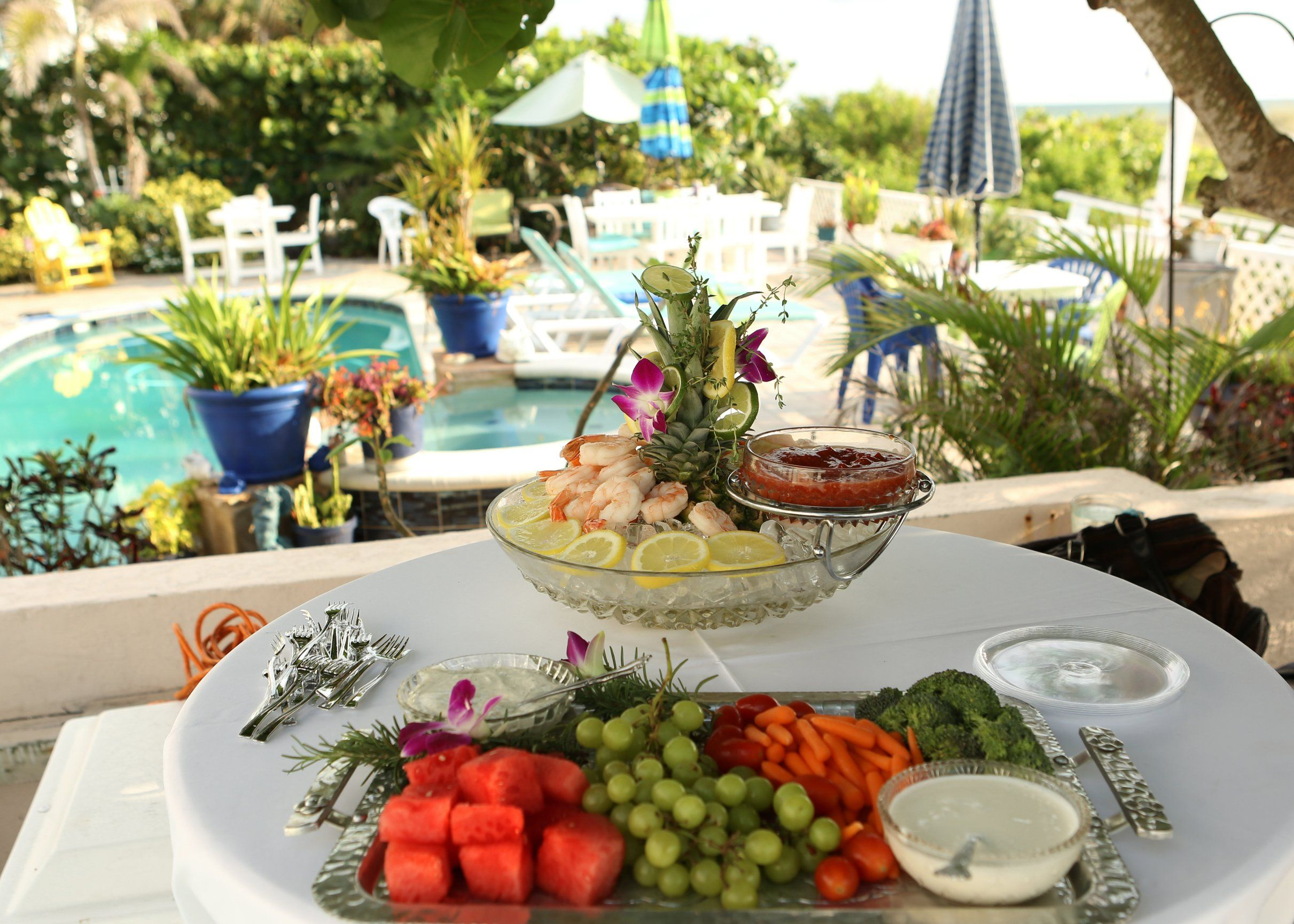 Private catering for your beach house reception Wedding
