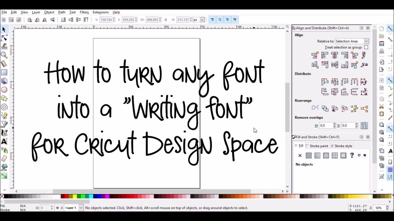Make Any Font A Writing Font For Cricut Design Space Cricut